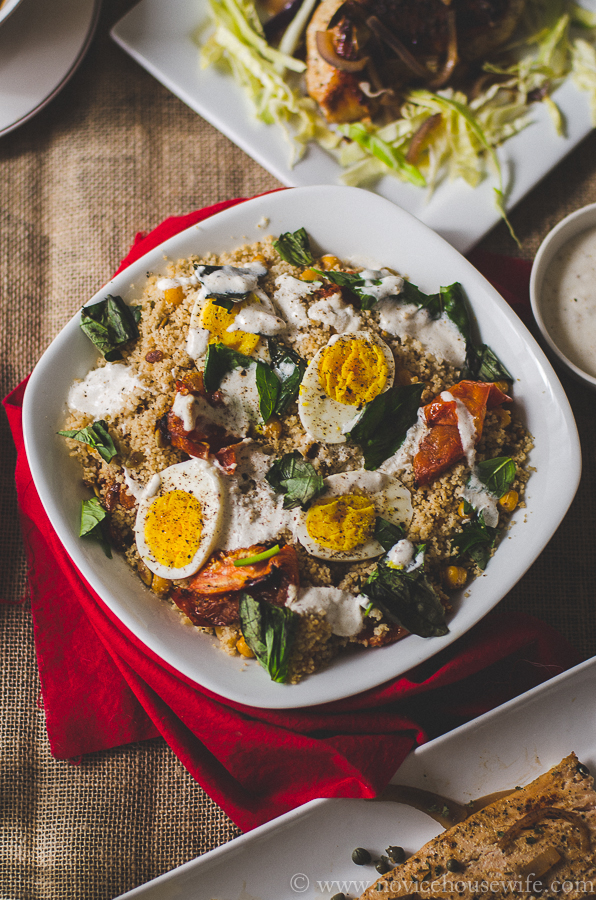 Couscous Salad with Chickpeas, Roasted Tomatoes and Boiled Eggs - The ...