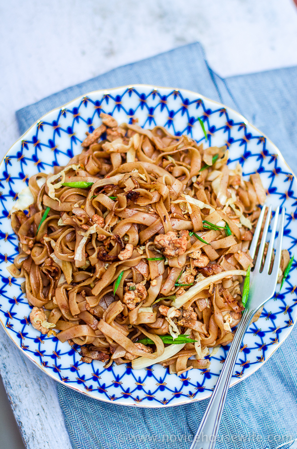 chicken pad see ew the novice housewife